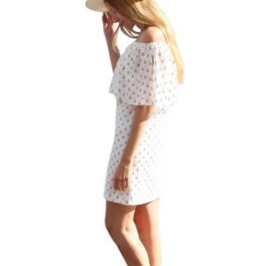 Zara white off shoulder dress